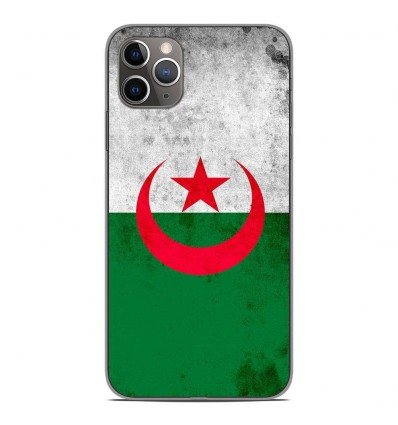 Coque en silicone Apple iPhone 11 Pro Max - Drapeau Algérie