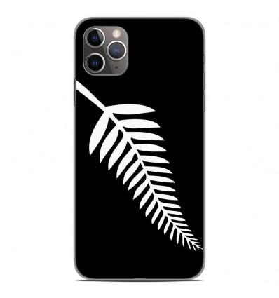 Coque en silicone Apple iPhone 11 Pro Max - Drapeau All-black