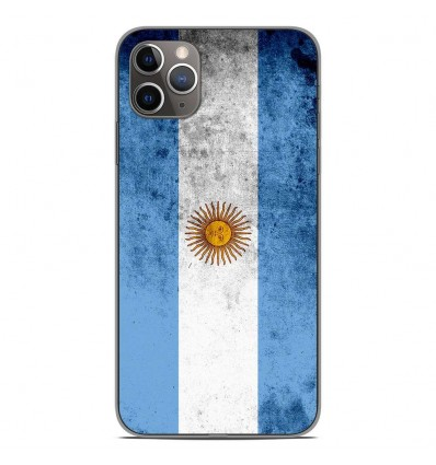 Coque en silicone Apple iPhone 11 Pro Max - Drapeau Argentine