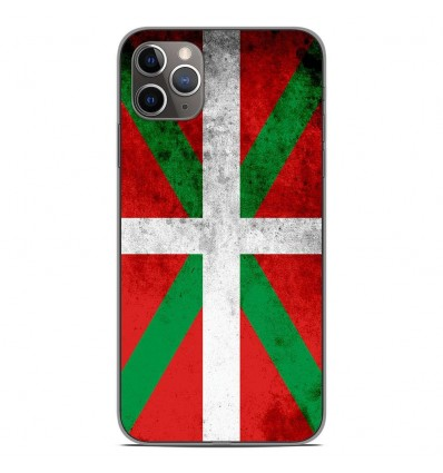 Coque en silicone Apple iPhone 11 Pro Max - Drapeau Basque