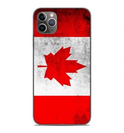 Coque en silicone Apple iPhone 11 Pro Max - Drapeau Canada