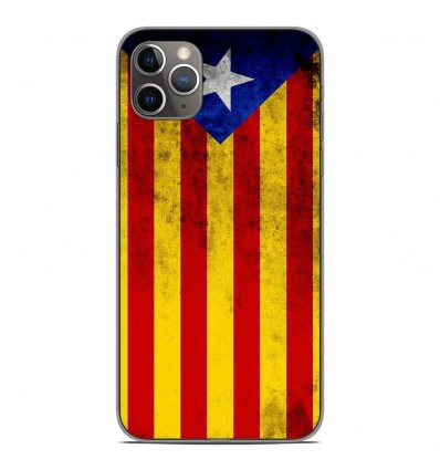 Coque en silicone Apple iPhone 11 Pro Max - Drapeau Catalogne