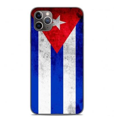 Coque en silicone Apple iPhone 11 Pro Max - Drapeau Cuba