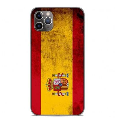 Coque en silicone Apple iPhone 11 Pro Max - Drapeau Espagne