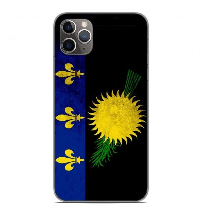 Coque en silicone Apple iPhone 11 Pro Max - Drapeau Guadeloupe
