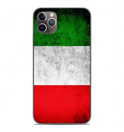 Coque en silicone Apple iPhone 11 Pro Max - Drapeau Italie
