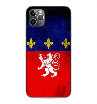 Coque en silicone Apple iPhone 11 Pro Max - Drapeau Lyon