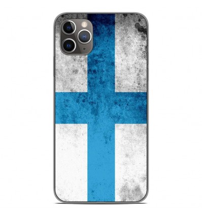 Coque en silicone Apple iPhone 11 Pro Max - Drapeau Marseille