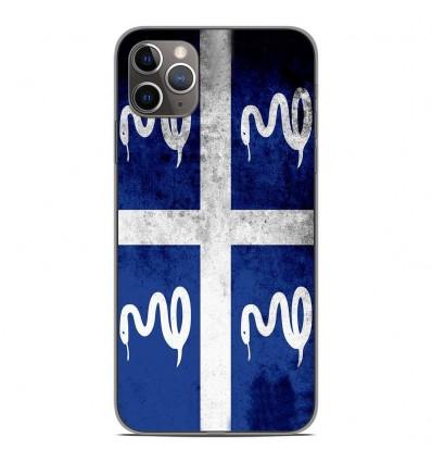 Coque en silicone Apple iPhone 11 Pro Max - Drapeau Martinique