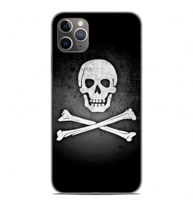 Coque en silicone Apple iPhone 11 Pro Max - Drapeau Pirate
