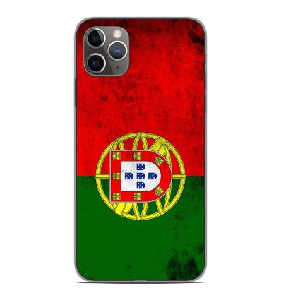 Coque en silicone Apple iPhone 11 Pro Max - Drapeau Portugal