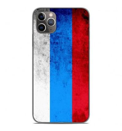 Coque en silicone Apple iPhone 11 Pro Max - Drapeau Russie
