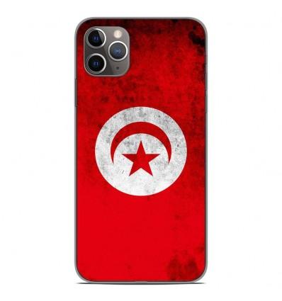 Coque en silicone Apple iPhone 11 Pro Max - Drapeau Tunisie