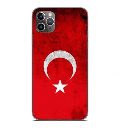 Coque en silicone Apple iPhone 11 Pro Max - Drapeau Turquie
