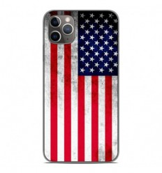 Coque en silicone Apple iPhone 11 Pro Max - Drapeau USA