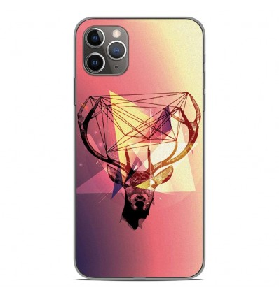 Coque en silicone Apple iPhone 11 Pro Max - Cerf Hipster