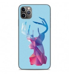 Coque en silicone Apple iPhone 11 Pro Max - Cerf Hipster Bleu