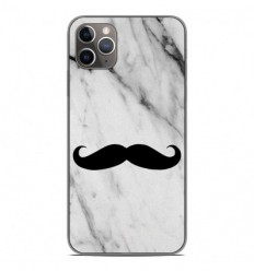 Coque en silicone Apple iPhone 11 Pro Max - Hipster Moustache