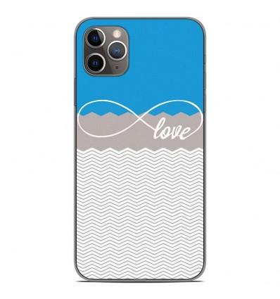 Coque en silicone Apple iPhone 11 Pro Max - Love Bleu