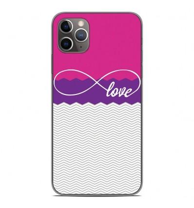 Coque en silicone Apple iPhone 11 Pro Max - Love Rose
