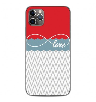 Coque en silicone Apple iPhone 11 Pro Max - Love Rouge