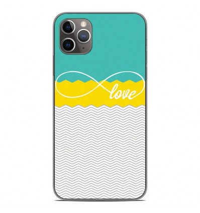 Coque en silicone Apple iPhone 11 Pro Max - Love Turquoise