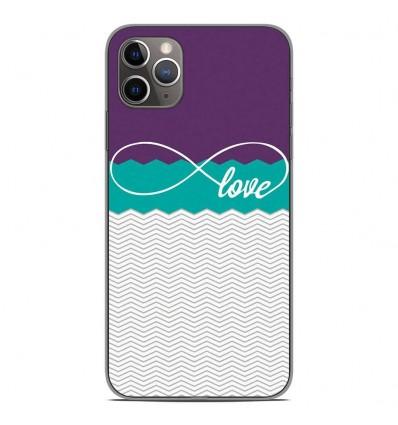 Coque en silicone Apple iPhone 11 Pro Max - Love Violet
