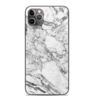 Coque en silicone Apple iPhone 11 Pro Max - Marbre Blanc