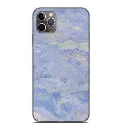 Coque en silicone Apple iPhone 11 Pro Max - Marbre Bleu