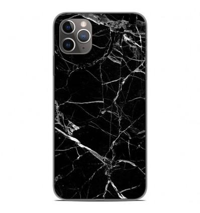 Coque en silicone Apple iPhone 11 Pro Max - Marbre Noir