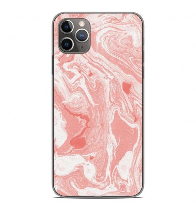 Coque en silicone Apple iPhone 11 Pro Max - Marbre Rose