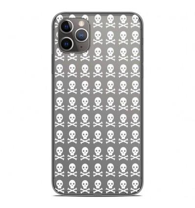 Coque en silicone Apple iPhone 11 Pro Max - Skull blanc