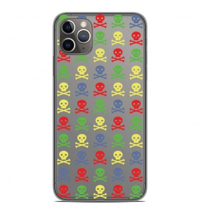 Coque en silicone Apple iPhone 11 Pro Max - Skull Couleur