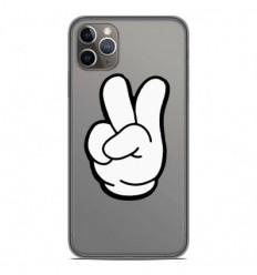 Coque en silicone Apple iPhone 11 Pro Max - Swag Hand Blanc