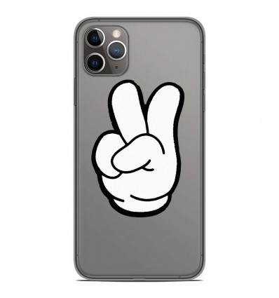 Coque en silicone Apple iPhone 11 Pro Max - Swag Hand Blanc