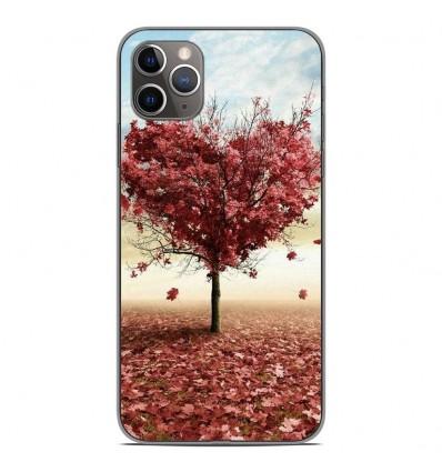 Coque en silicone Apple iPhone 11 Pro Max - Arbre Love