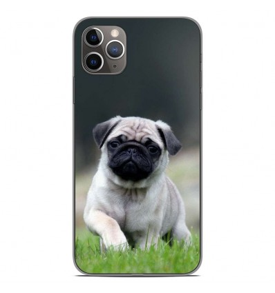 Coque en silicone Apple iPhone 11 Pro Max - Bulldog français