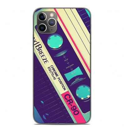 Coque en silicone Apple iPhone 11 Pro Max - Cassette Vintage