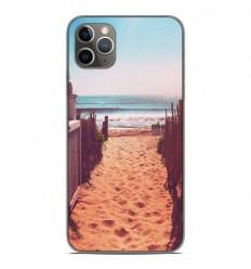 Coque en silicone Apple iPhone 11 Pro Max - Chemin de plage