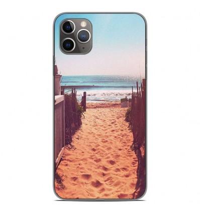 Coque en silicone pour Apple iPhone 11 Pro Max - Chemin de plage