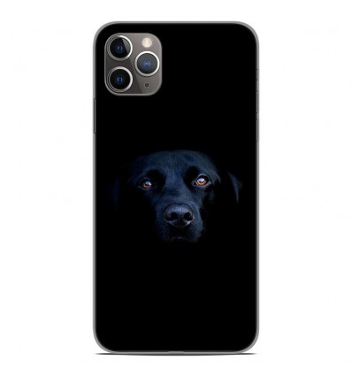 Coque en silicone Apple iPhone 11 Pro Max - Chien noir