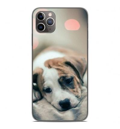 Coque en silicone Apple iPhone 11 Pro Max - Chiot rêveur