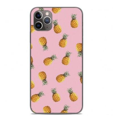 Coque en silicone Apple iPhone 11 Pro Max - Pluie d'ananas