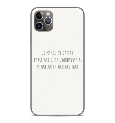Coque en silicone Apple iPhone 11 Pro Max - Citation 12