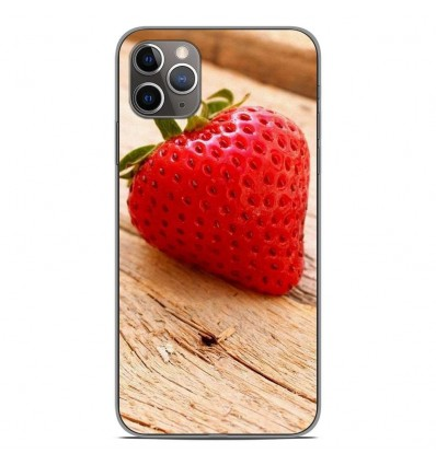 Coque en silicone Apple iPhone 11 Pro Max - Envie d'une fraise