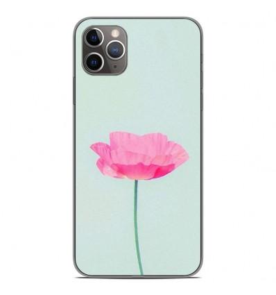 Coque en silicone Apple iPhone 11 Pro Max - Fleur Rose
