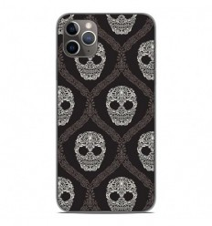Coque en silicone Apple iPhone 11 Pro Max - Floral skull