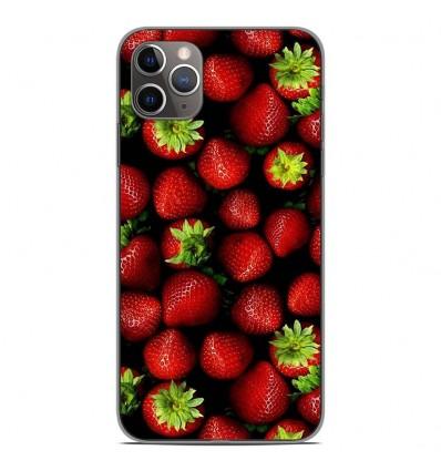 Coque en silicone pour Apple iPhone 11 Pro Max - Fraises