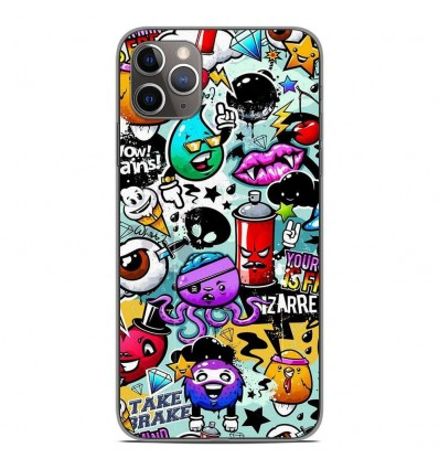 Coque en silicone Apple iPhone 11 Pro Max - Graffiti 2