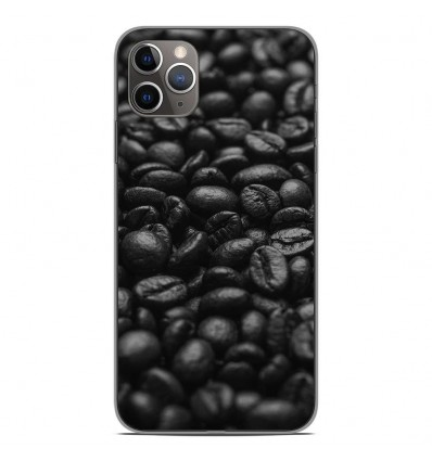 Coque en silicone Apple iPhone 11 Pro Max - Grains de café